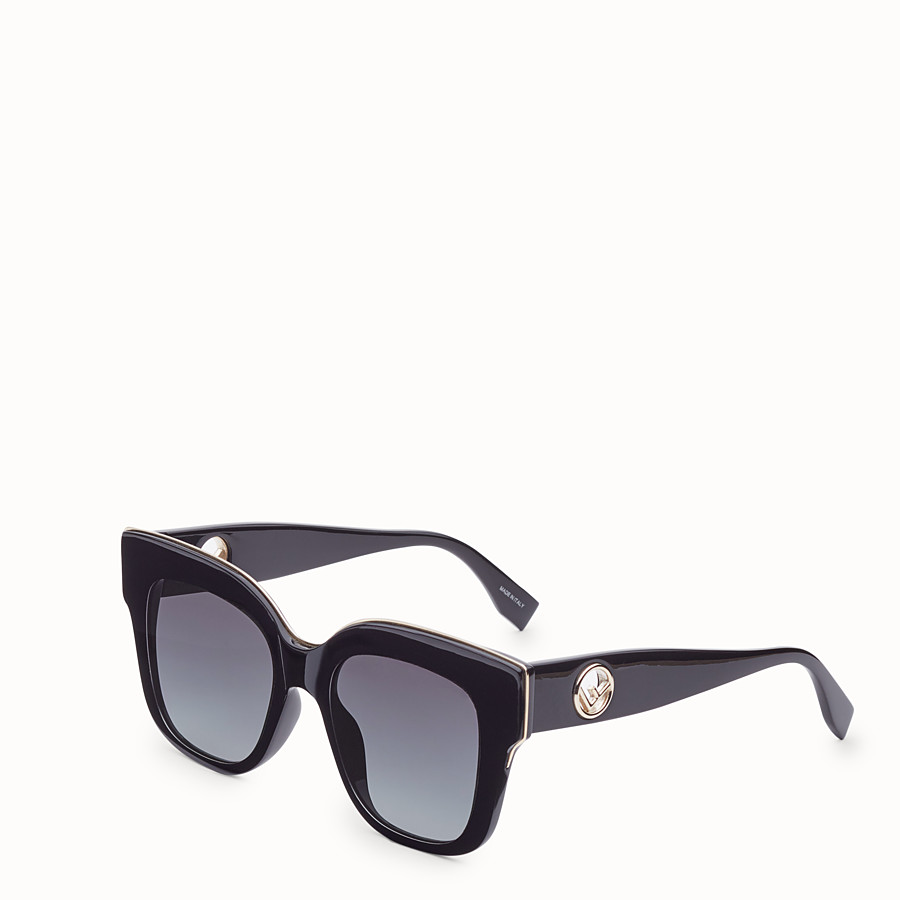 FENDI F IS FENDI - Black sunglasses - view 2 detail