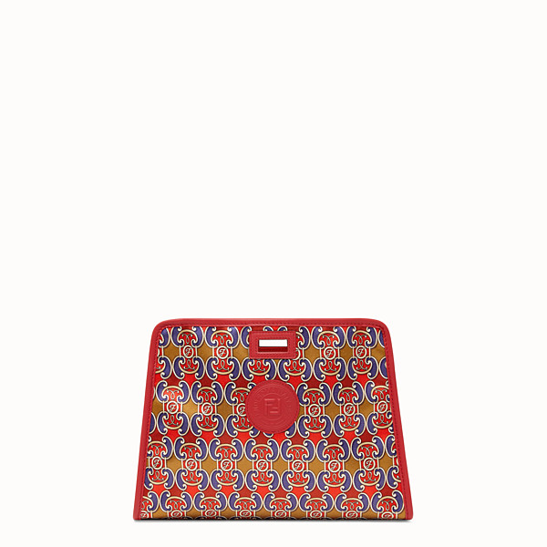 FENDI SMALL PEEKABOO DEFENDER - Peekaboo cover in multicolour satin - view 1 small thumbnail
