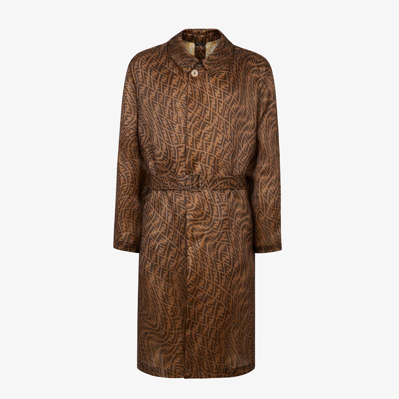 FENDI 風衣外套 - 棕色硬紗風衣外套 - view 1 detail