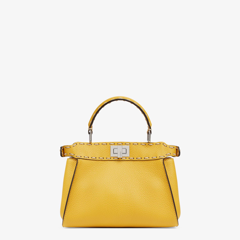 FENDI PEEKABOO ICONIC MINI - Yellow full grain leather bag - view 3 detail