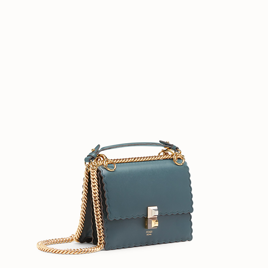 FENDI KAN I SMALL - Green leather mini-bag - view 2 detail