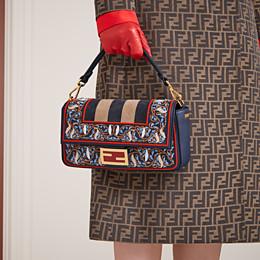FENDI BAGUETTE - Blue leather bag - view 2 thumbnail