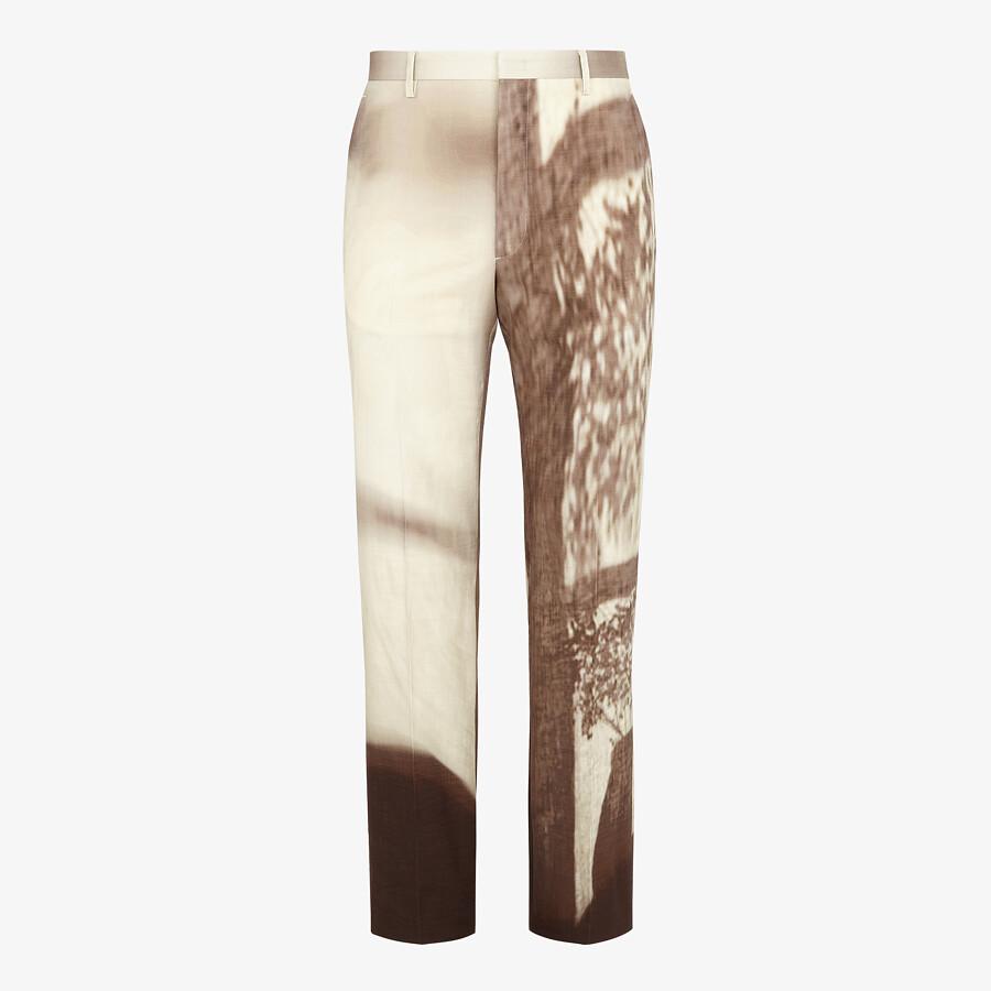 FENDI PANTS - White cotton pants - view 1 detail