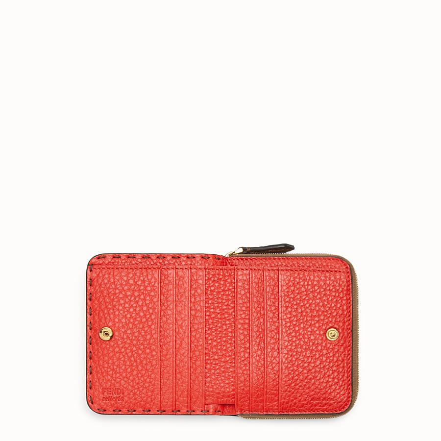 FENDI MEDIUM ZIP-AROUND - Brown leather wallet - view 4 detail