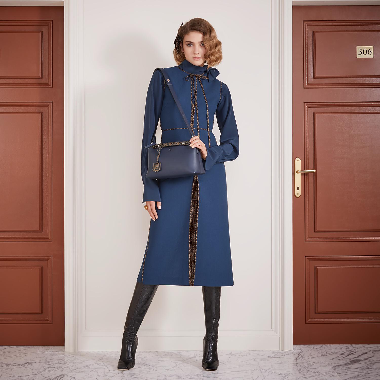 FENDI DRESS - Blue wool dress - view 4 detail