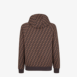 FENDI SWEATSHIRT - Brown cotton sweatshirt - view 2 thumbnail