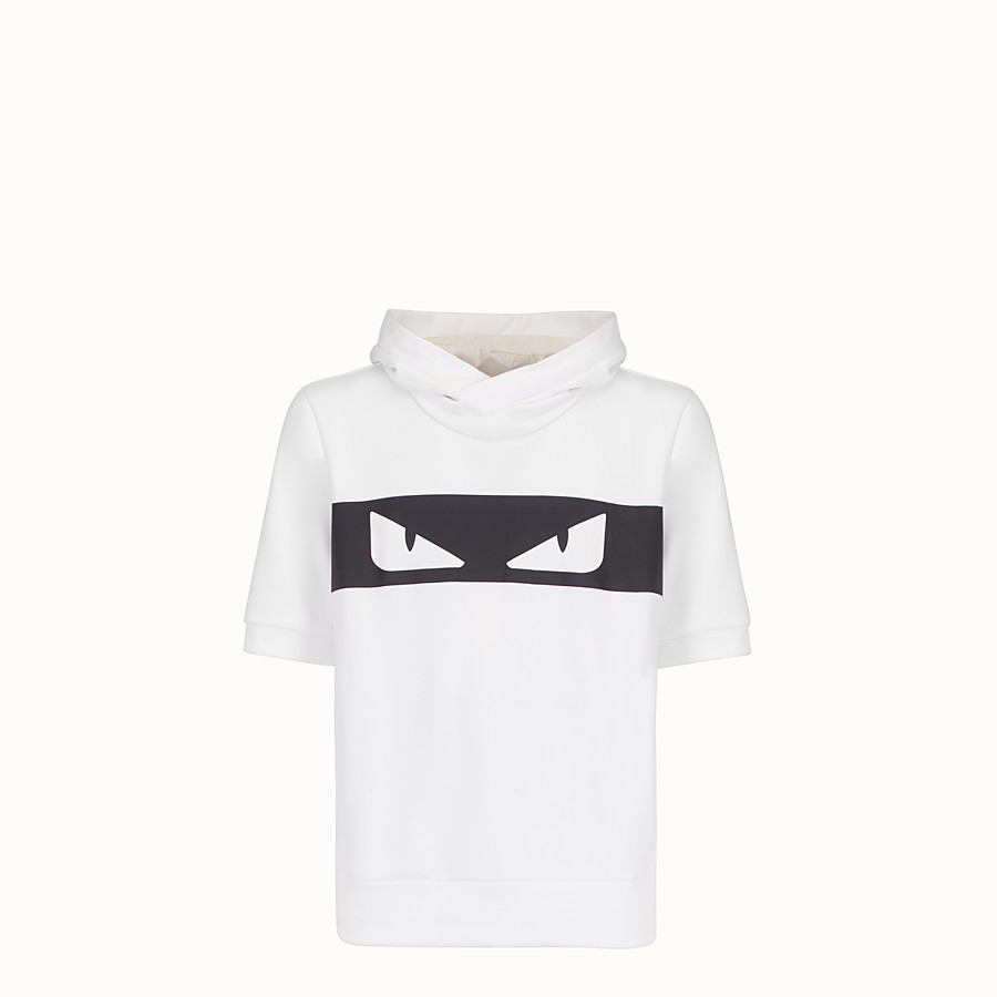 FENDI SWEATSHIRT - White cotton sweatshirt - view 1 detail