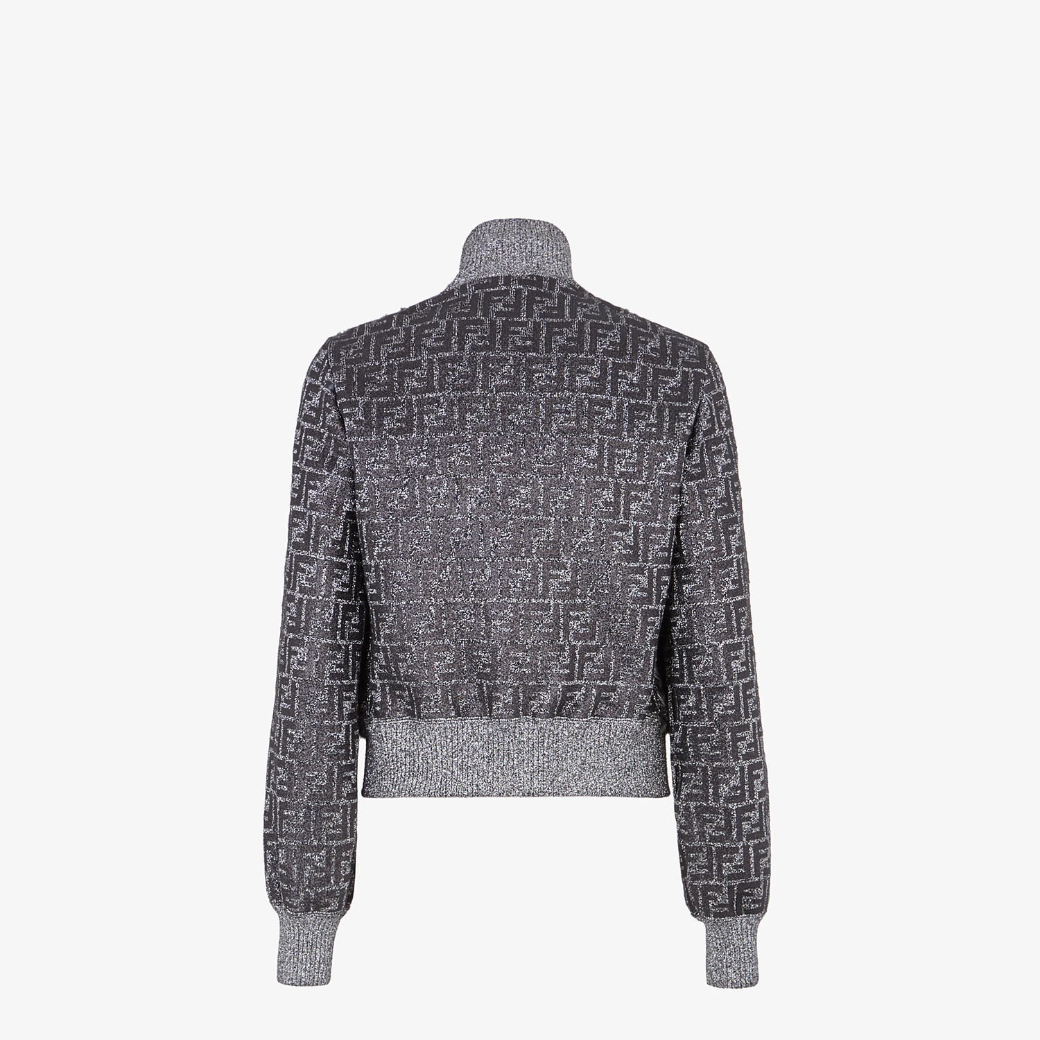 FENDI BOMBER - Knit and inlaid mink fur bomber jacket - view 2 detail