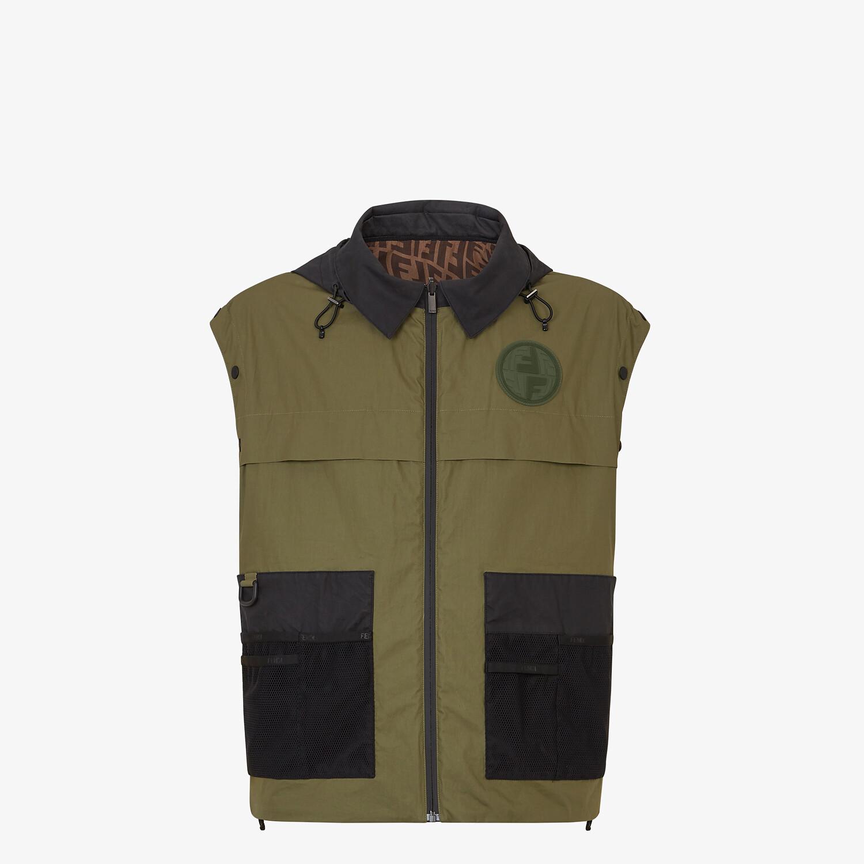 FENDI WINDBREAKER - Multicolor nylon jacket - view 5 detail