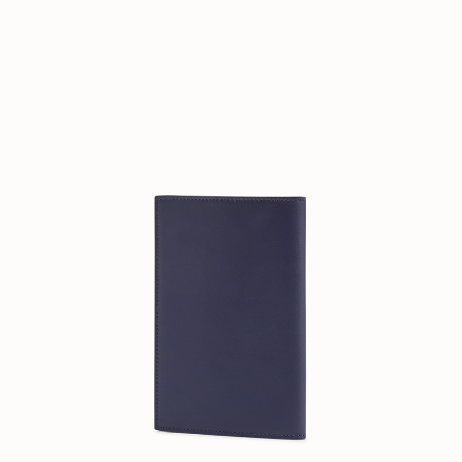 FENDI PASSPORT COVER - Blue leather passport cover - view 2 detail