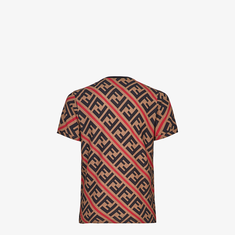 FENDI T-SHIRT - Beige cotton T-shirt - view 2 detail