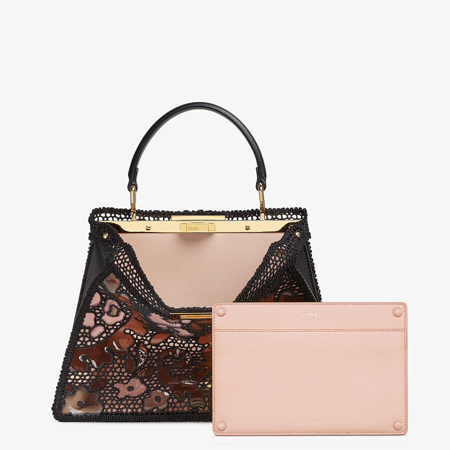 FENDI MEDIUM PEEKABOO ISEEU - Black lace bag - view 4 detail