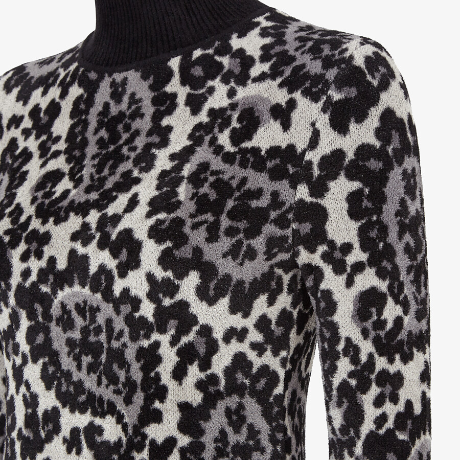 FENDI SWEATER - Gray viscose sweater - view 3 detail
