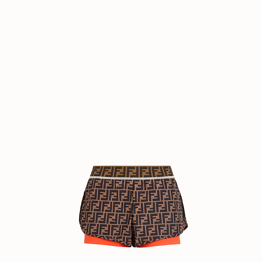 FENDI SHORTS - Multicolor fabric shorts - view 1 detail