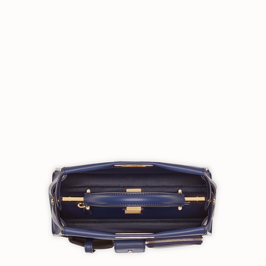 FENDI PEEKABOO ICONIC MEDIUM - Tasche aus Leder in Blau - view 5 detail