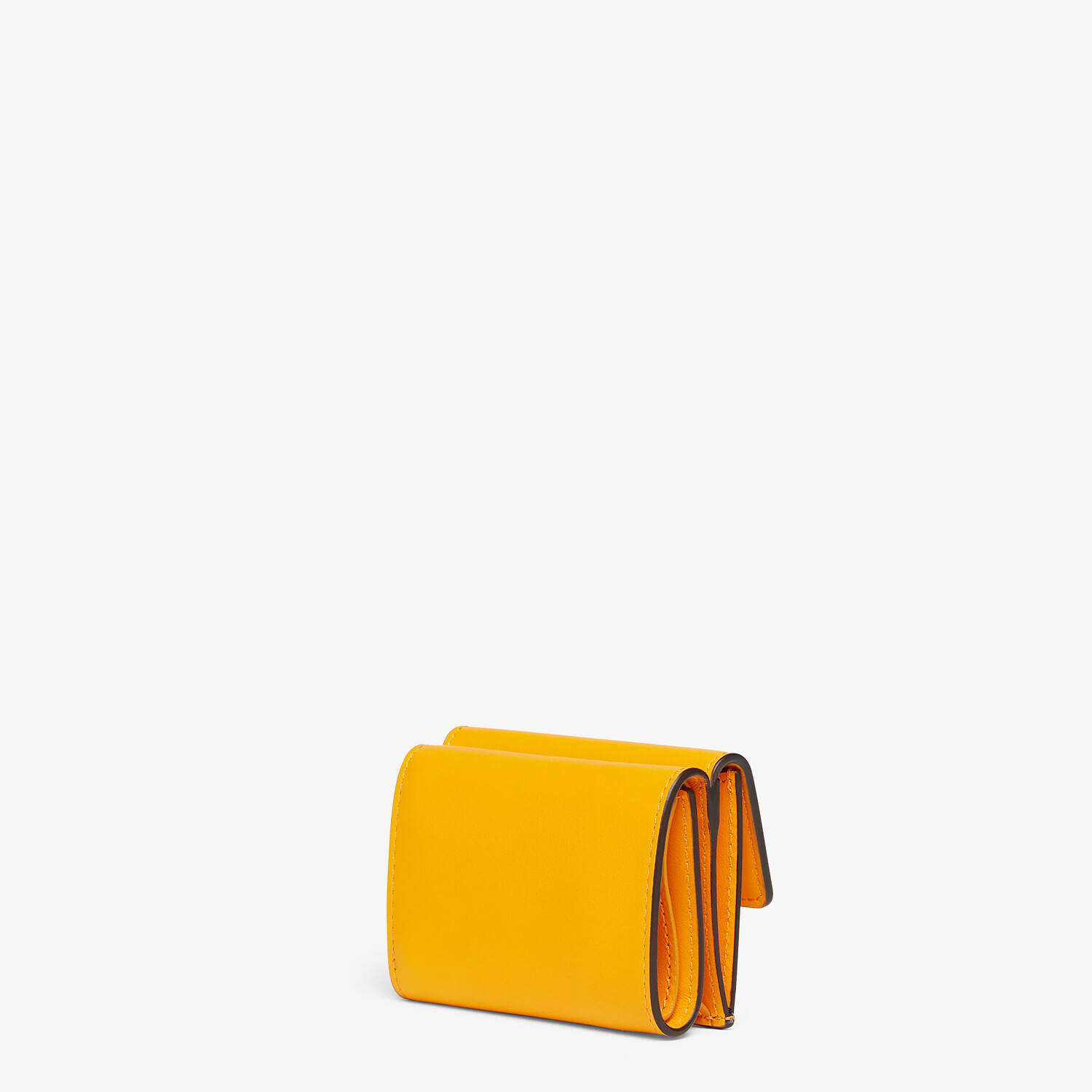 FENDI MICRO TRIFOLD - Orange leather wallet - view 2 detail