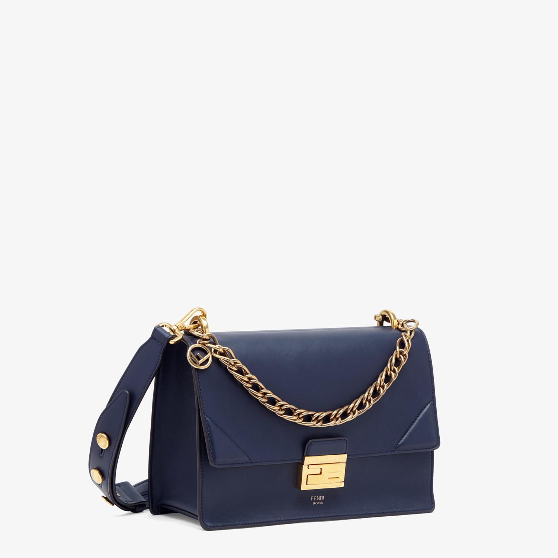FENDI KAN U - Blue leather bag - view 3 detail