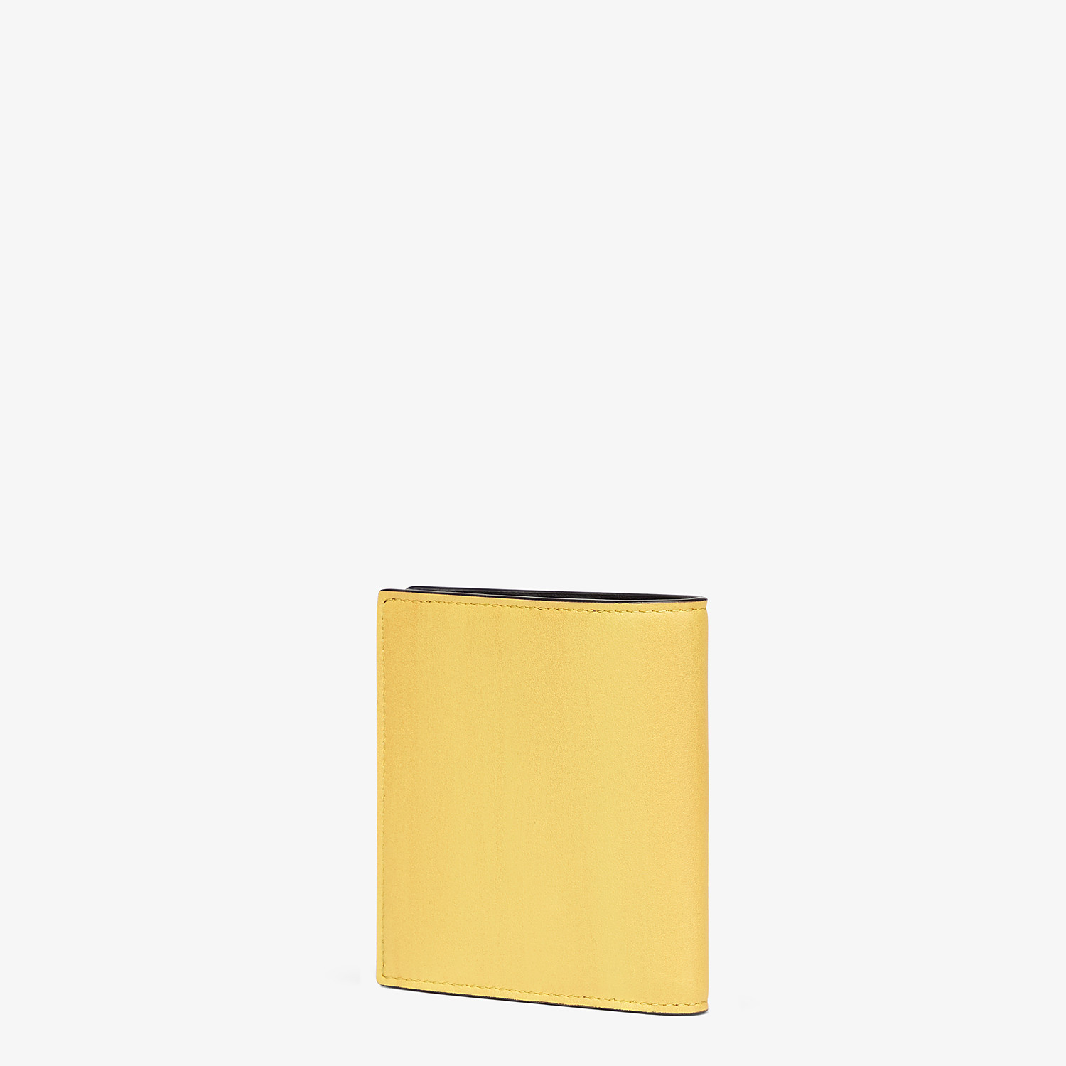 FENDI WALLET - Yellow leather bi-fold wallet - view 2 detail