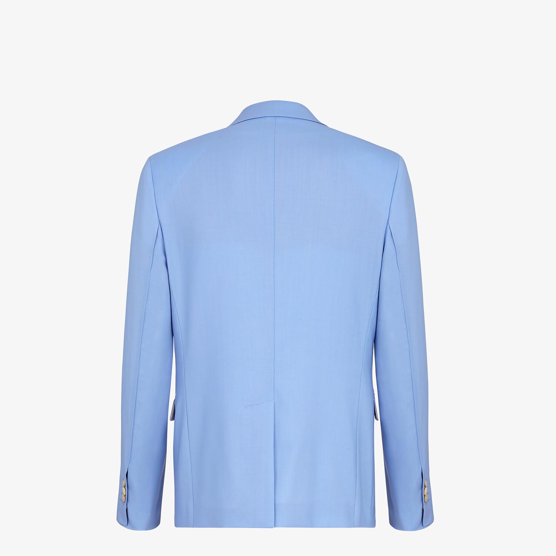 FENDI JACKET - Light blue wool blazer - view 2 detail