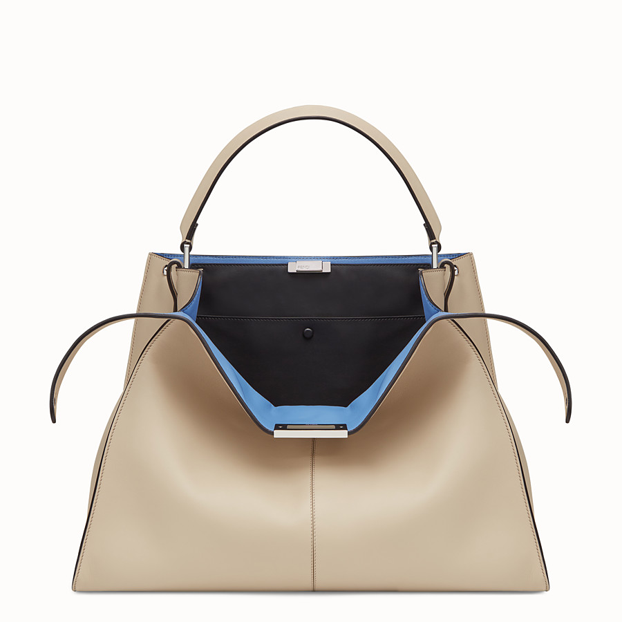 FENDI PEEKABOO X-LITE - Beige leather bag - view 1 detail