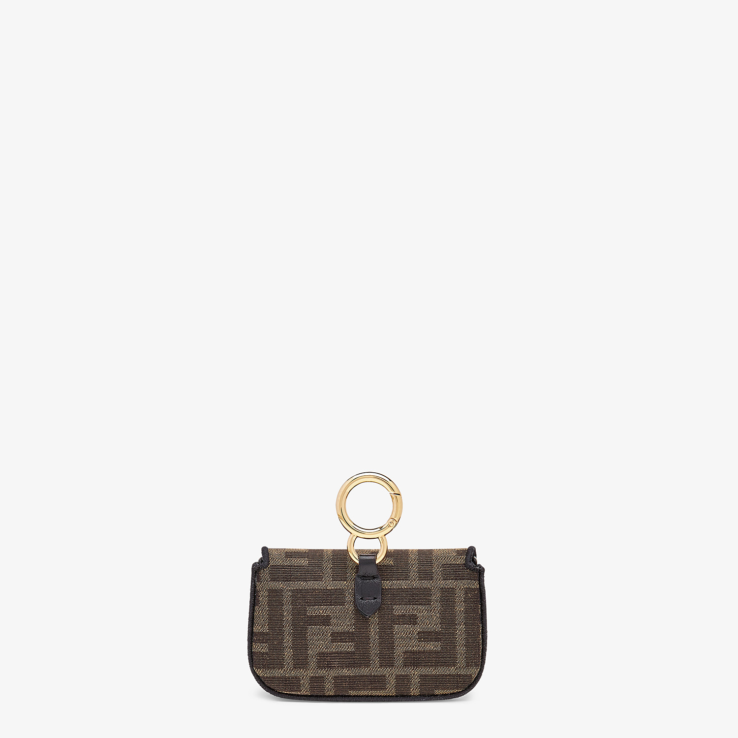 FENDI NANO BAGUETTE CHARM - Brown fabric charm - view 4 detail