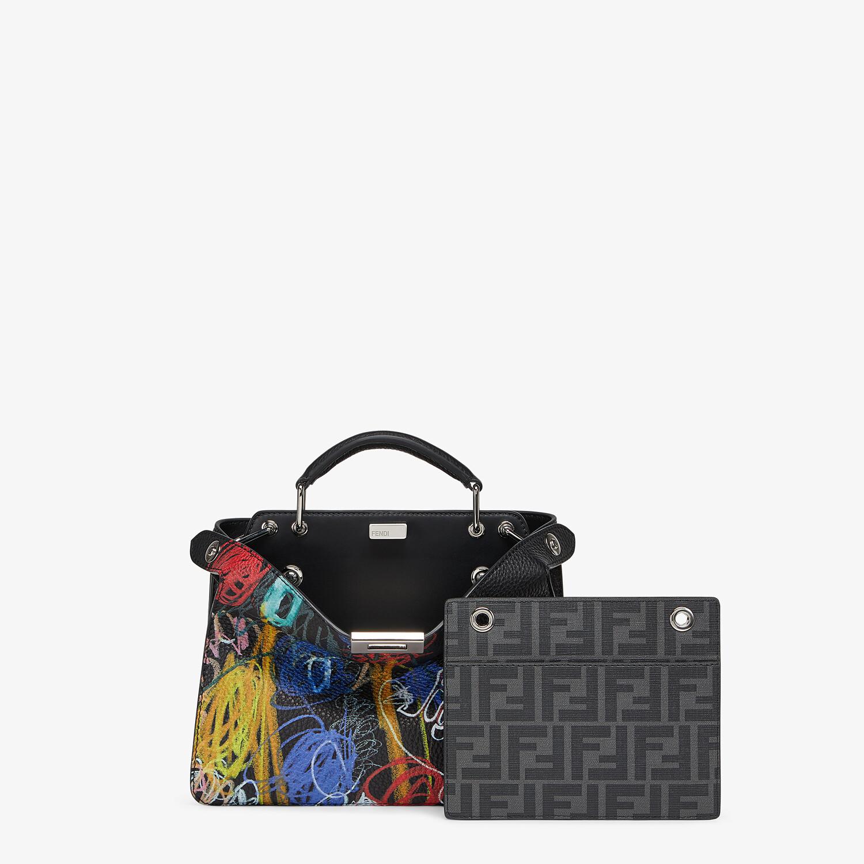 FENDI PEEKABOO ISEEU MINI - Leather bag with multicolor print - view 2 detail