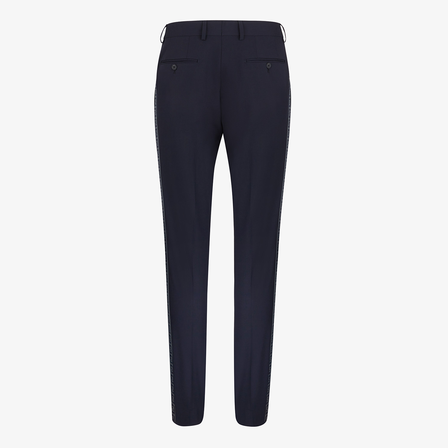 FENDI PANTS - Blue wool pants - view 2 detail