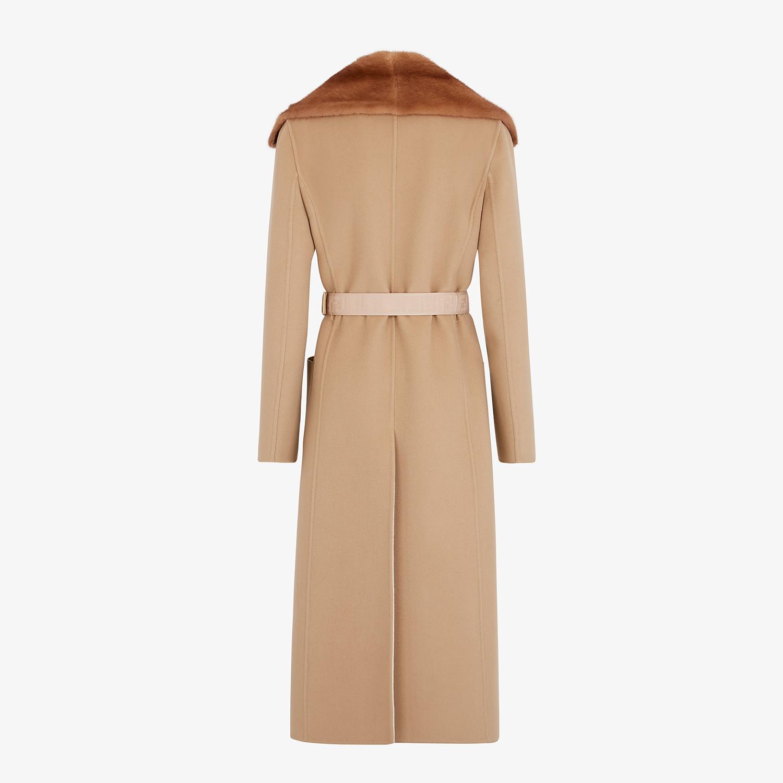 FENDI COAT - Beige cashmere coat - view 2 detail