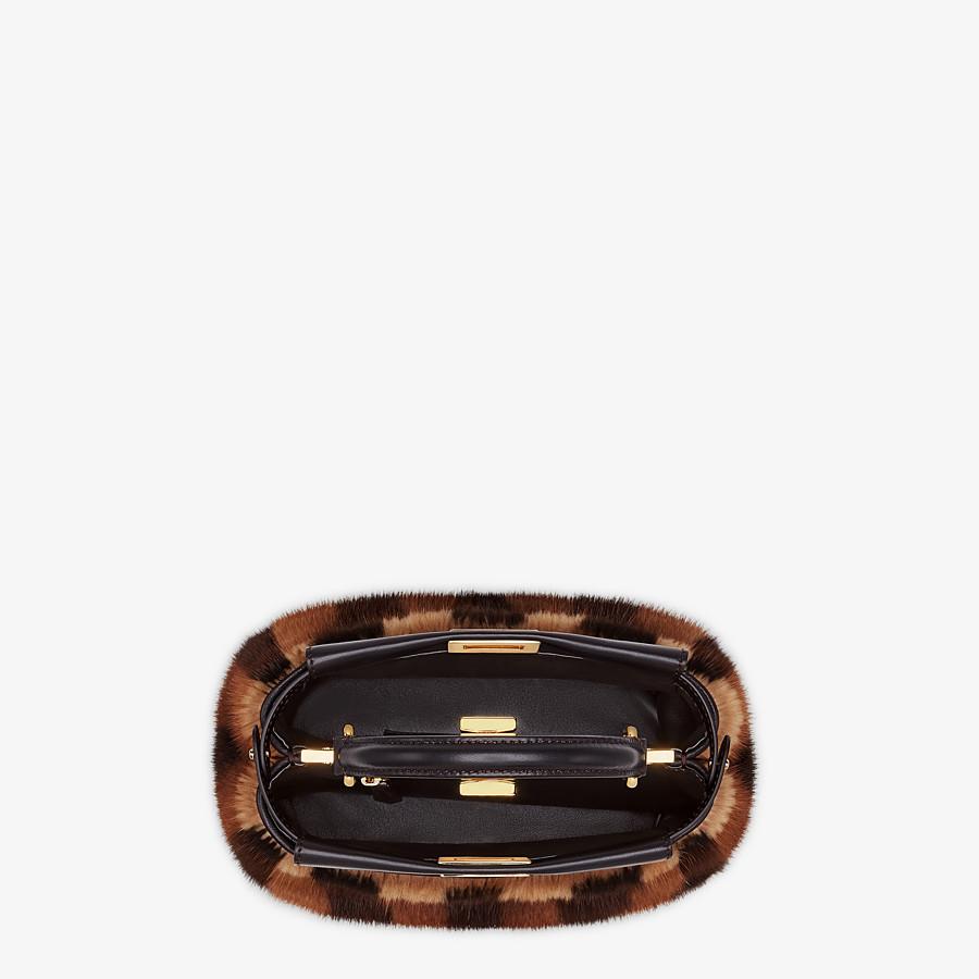 FENDI PEEKABOO ICONIC MINI - Black mink bag - view 4 detail