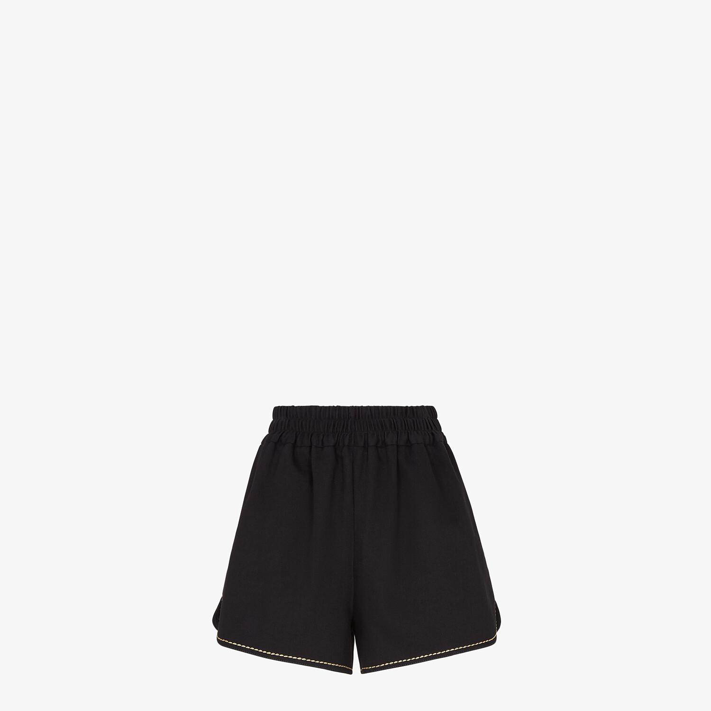 FENDI SHORTS - Black denim shorts - view 1 detail