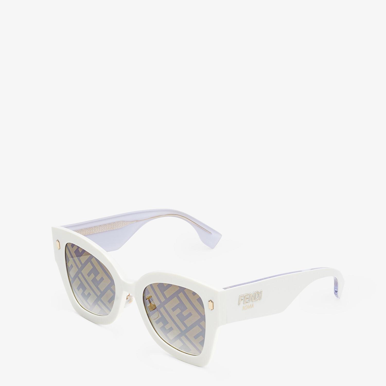 FENDI FENDI ROMA - White acetate sunglasses - view 2 detail