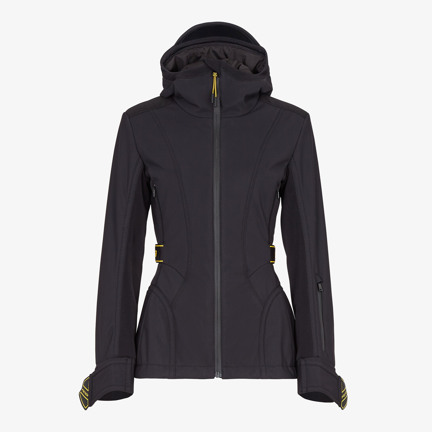 FENDI SKI JACKET - Ski jacket in black tech nylon - view 1 detail