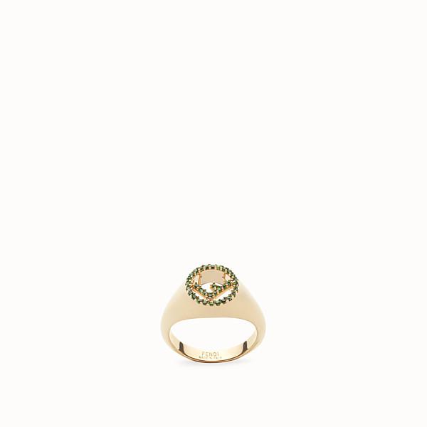 FENDI F IS FENDI RING - Gold-colour ring - view 1 small thumbnail