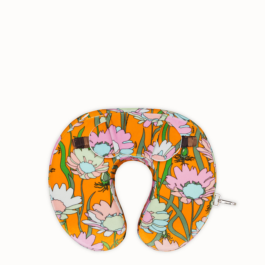 FENDI TRAVEL SET - Multicolour fabric cushion and mask - view 2 detail