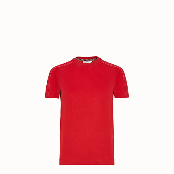FENDI T-SHIRT - T-shirt en jersey rouge - view 1 small thumbnail