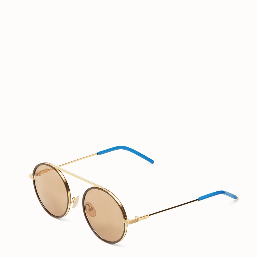 FENDI EVERYDAY FENDI - Gold sunglasses - view 2 detail