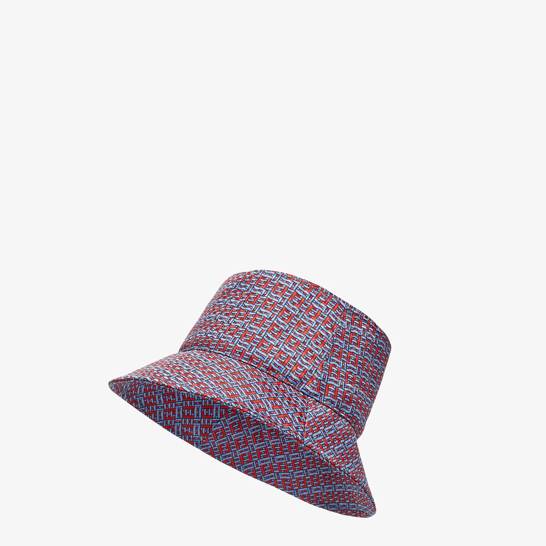 FENDI HAT - Light blue silk bucket hat - view 1 detail