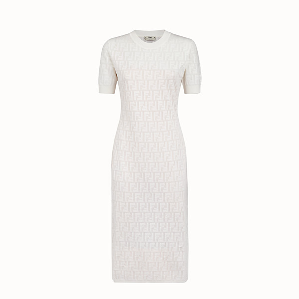 FENDI DRESS - White cotton dress - view 1 small thumbnail