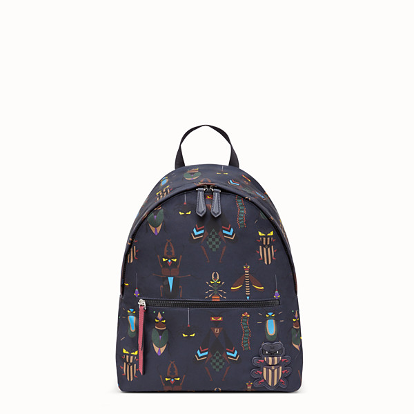 FENDI SLIM BACKPACK - Black nylon backpack - view 1 small thumbnail