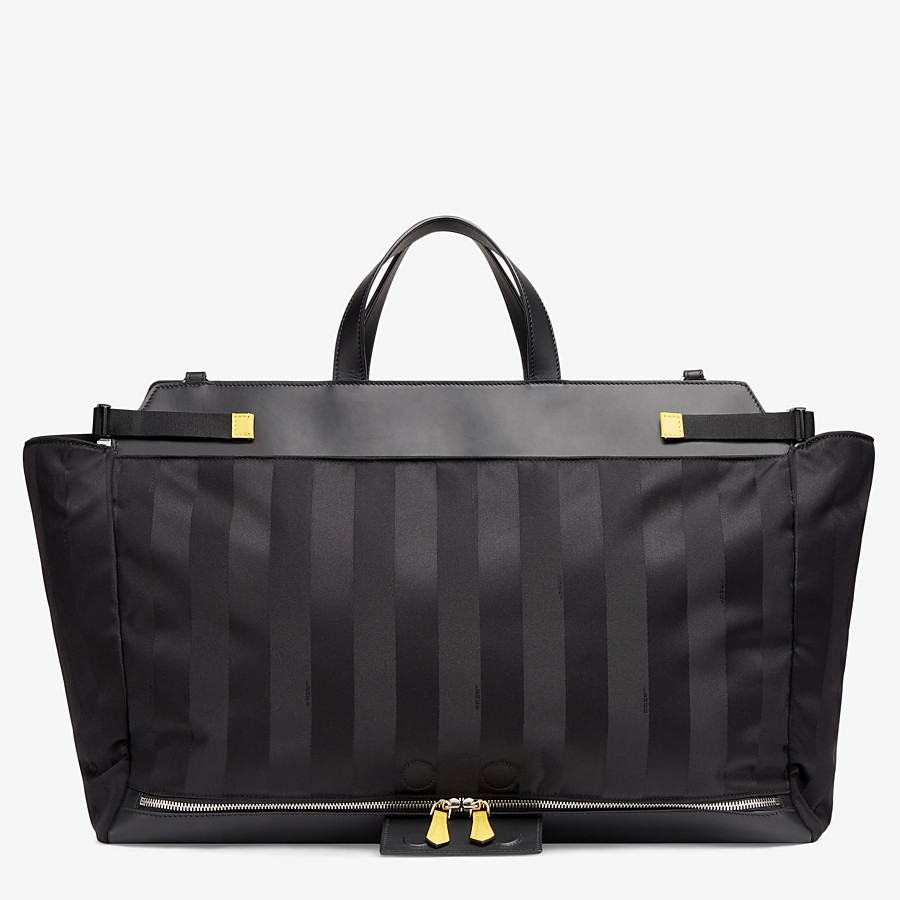 FENDI PEEKABOO ICONIC LARGE - Black nylon bag - view 4 detail