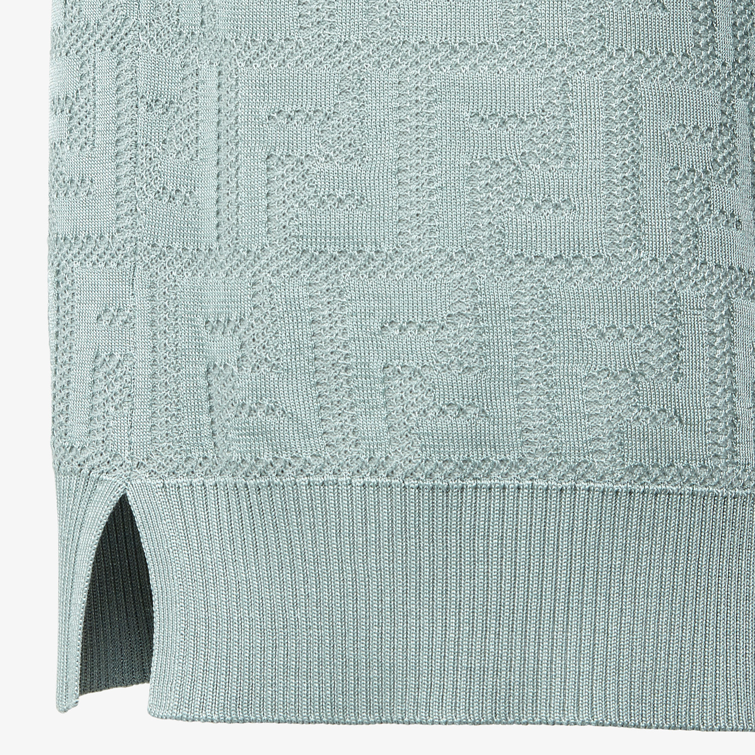 FENDI SWEATER - Light blue cotton and viscose sweater - view 3 detail