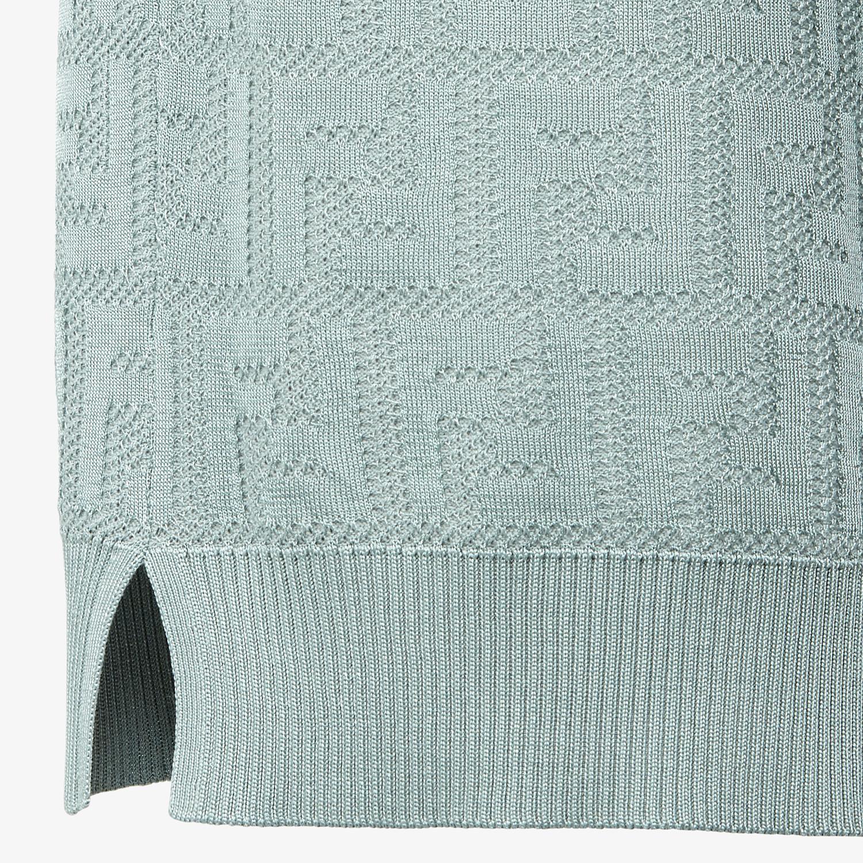 FENDI JUMPER - Light blue cotton and viscose jumper - view 3 detail
