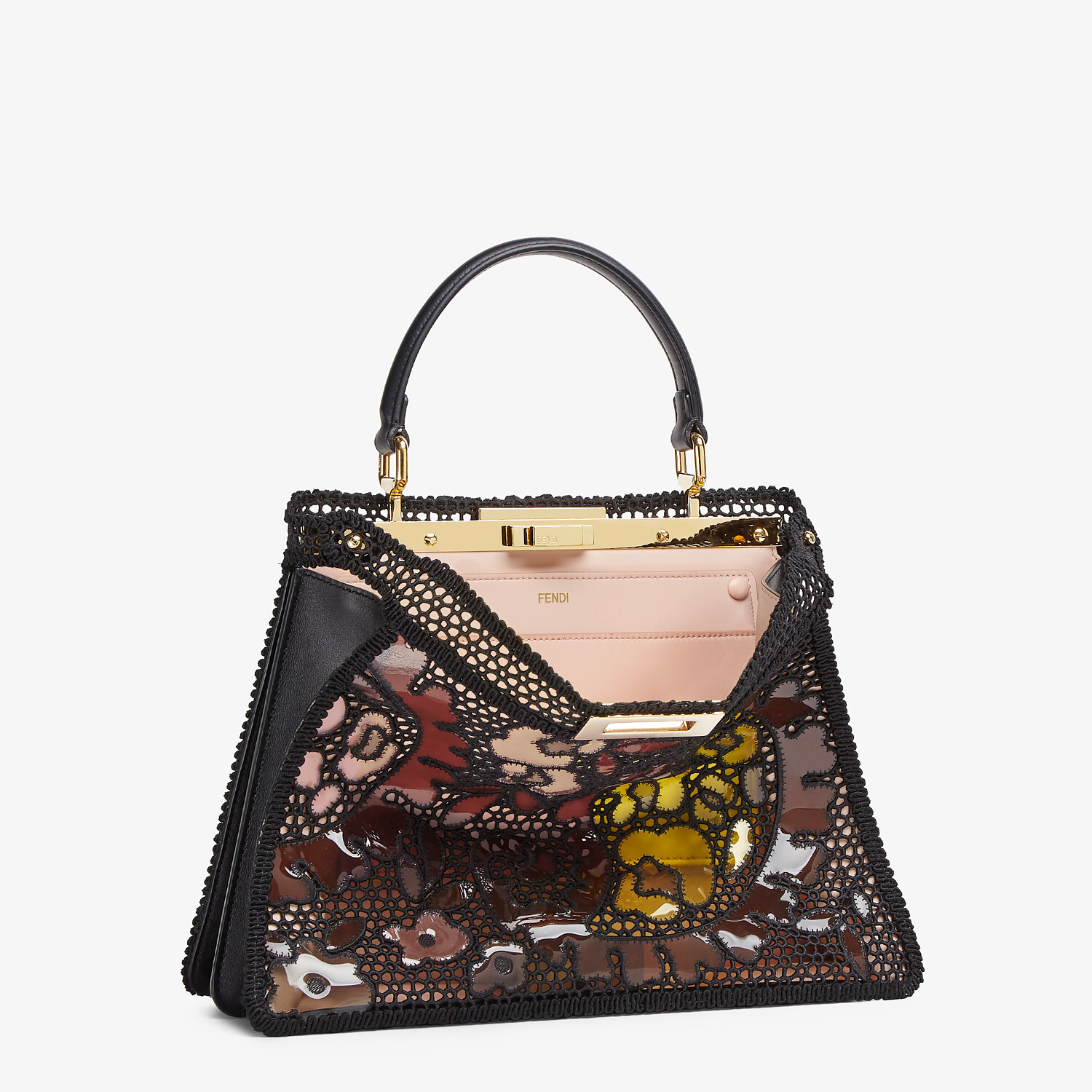 FENDI MEDIUM PEEKABOO ISEEU - Black lace bag - view 5 detail