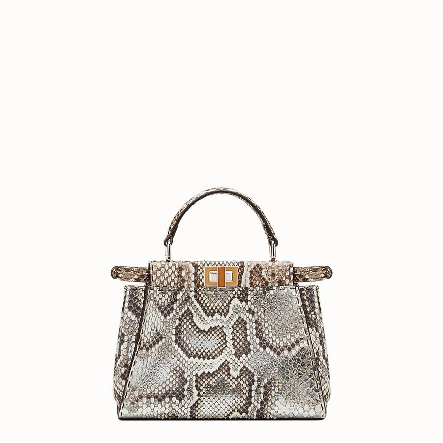 FENDI MINI PEEKABOO - 岩石色和银色蟒蛇皮手提包 - view 3 detail
