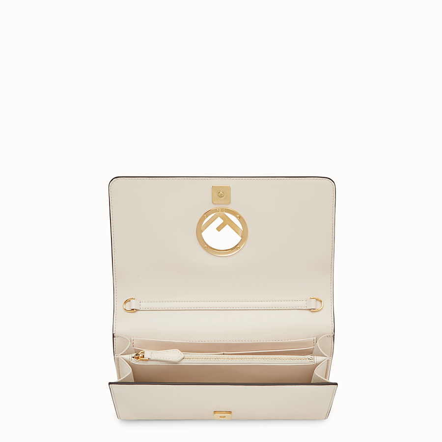 FENDI WALLET ON CHAIN - White leather mini-bag - view 4 detail