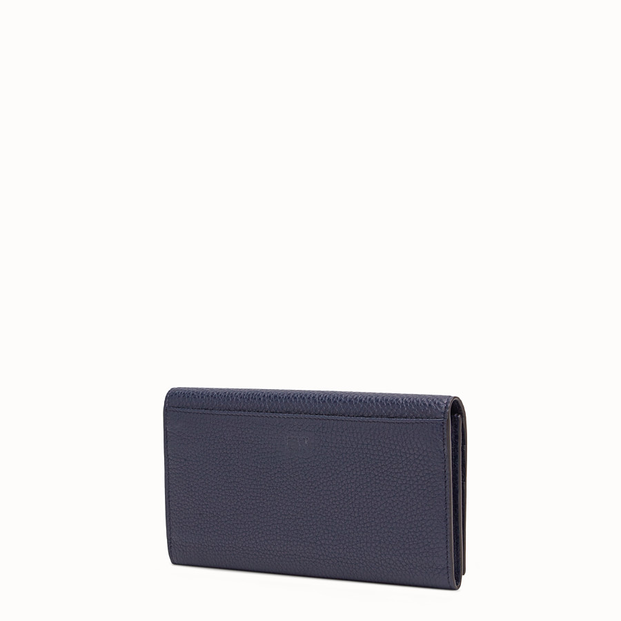 FENDI CONTINENTAL - Portafoglio in pelle blu - vista 2 dettaglio