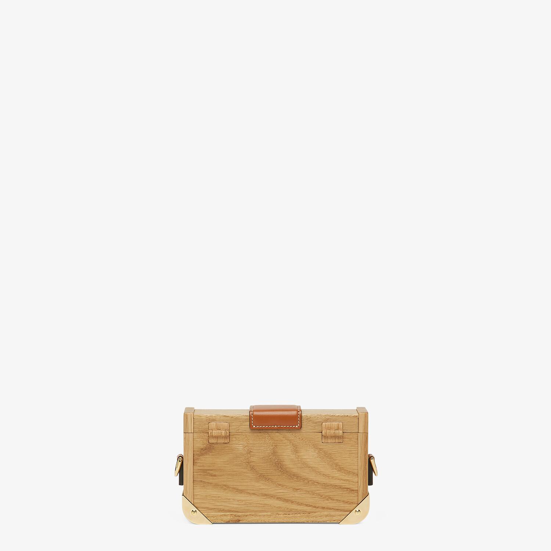 FENDI BAGUETTE TRUNK MINI - Natural wood bag - view 3 detail