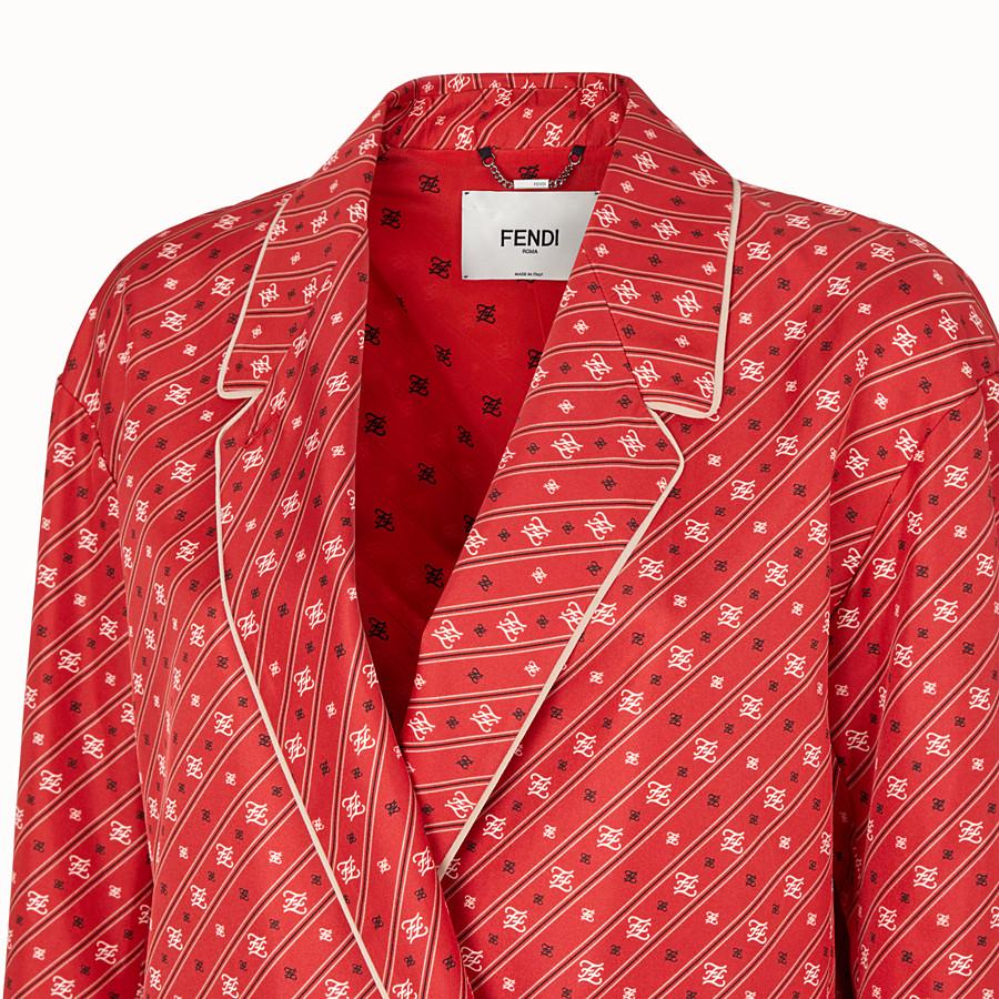FENDI GIACCA - Giacca in seta rossa - vista 3 dettaglio