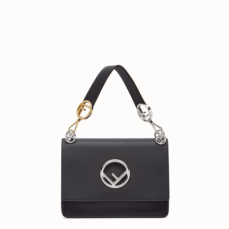 FENDI KAN I LOGO - Black leather bag - view 1 detail