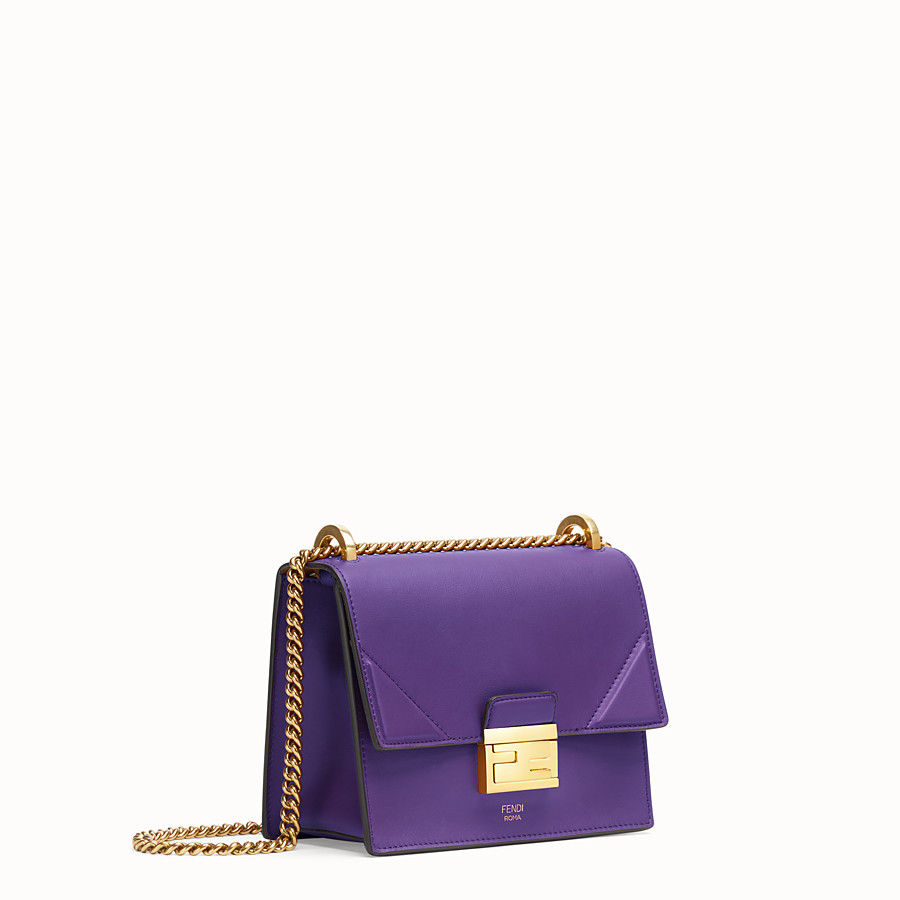FENDI KAN U SMALL - Purple leather mini-bag - view 3 detail